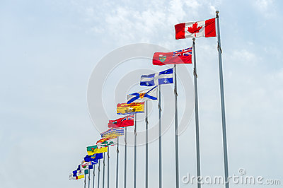 Canada and Province flags