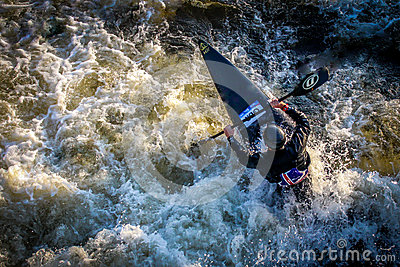 Kayaker at National Watersports Centre