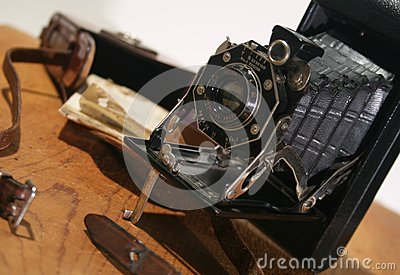 Old Antique folding Camera