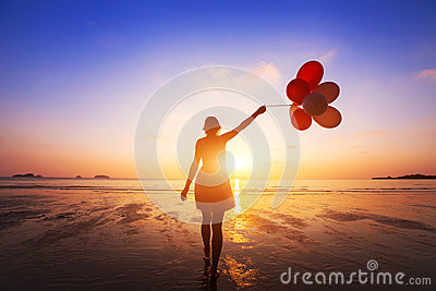stock image of happiness concept, positive emotions, happy girl
