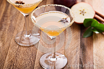 Apple cider martini with star anise
