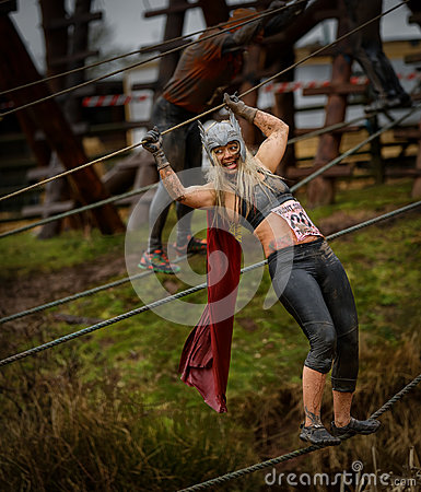 Competitor at 2014 Tough guy obstacle race