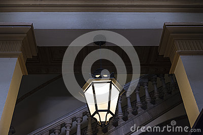 Old fashioned light in a classic building