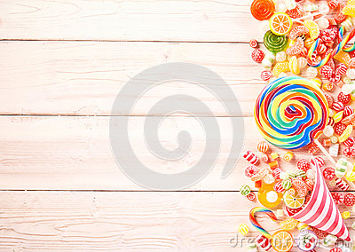 Extra large swirl colored sucker by gummy candy