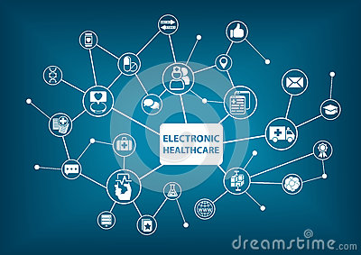 Electronic healthcare background as illustration in a digitized hospital