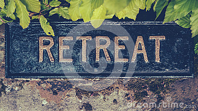 Spiritual Retreat Sign