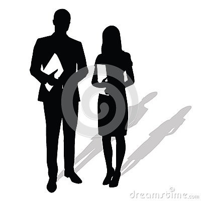 Business people holding papers, documents