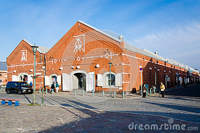 Kanemori Red Brick Warehouse in Hakodate port