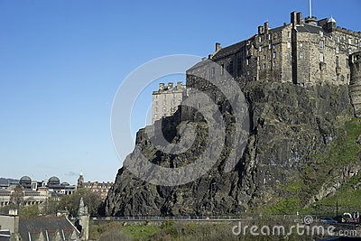 Edinburgh Castle on extinct volcano