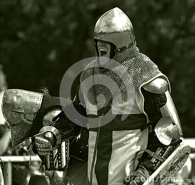 Knight prepares for battle