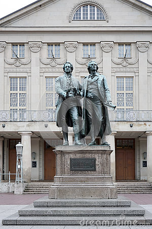 WEIMAR, GERMANY/EUROPE - SEPTEMBER 14 : The Goethe–Schiller Mo