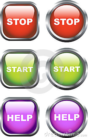 Colourful Set of Stop / Start Icons: www.stockphotos.ro/stop-start-icons-image7290126.html
