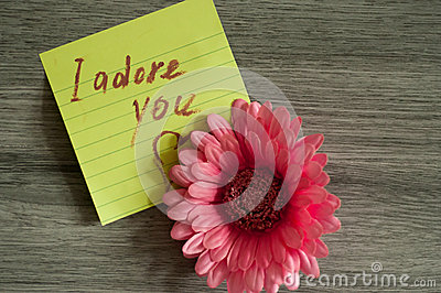 Love note I adore you