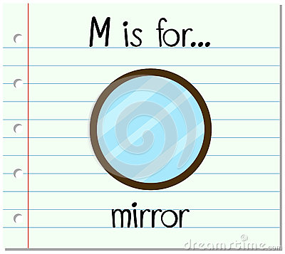 Flashcard letter M is for mirror