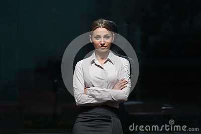 Business Woman Portrait - Crossed Arms
