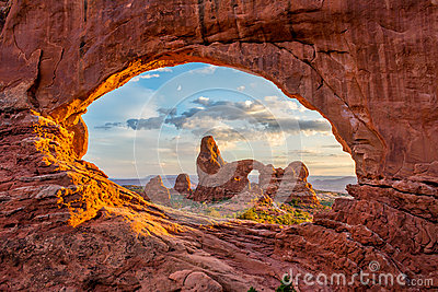 Turret Arch, North Window, Arches National Park, Utah