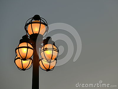 Lighted Street Lights