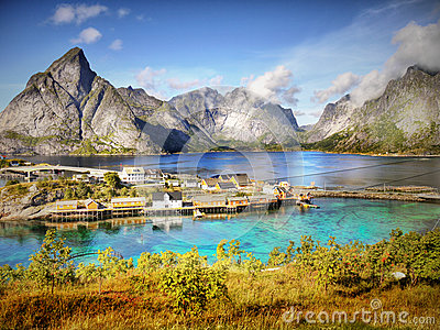 Mountains and Fjord Landscape, Norway