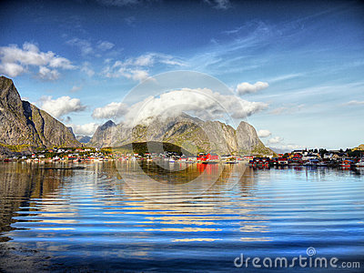 Fishing Village, Fjord Landscape, Norway