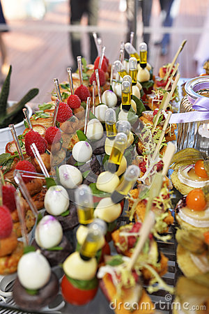 Tray of Colorful Delicious Hors d 'Oevres, Beautiful Food, Senses