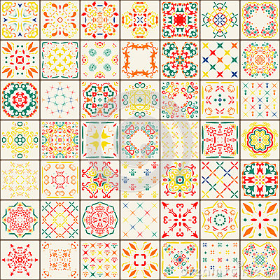 Seamless tile pattern. Colorful boho pattern. Ornament pattern.