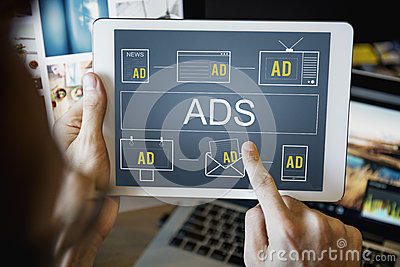 Advertisement ADS Commercial Marketing Advertising Branding Conc