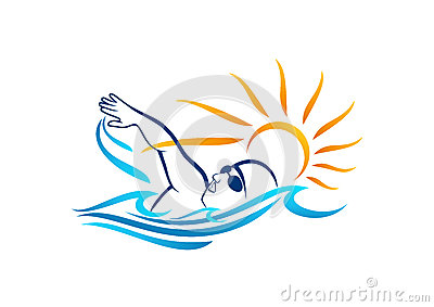 Swimming logo design