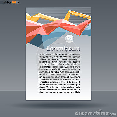 Abstract print A4 design with colored lines for flyers, banners or posters, with money icon, over silver background