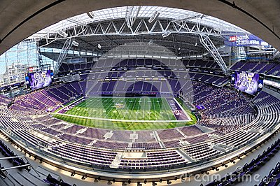 Fisheye View of Minnesota Vikings US Bank Stadium in Minneapolis
