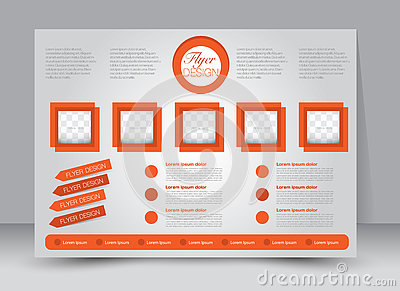Flyer, brochure, magazine cover template design landscape orientation