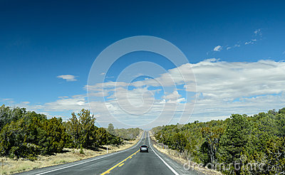 Car on the road ahead