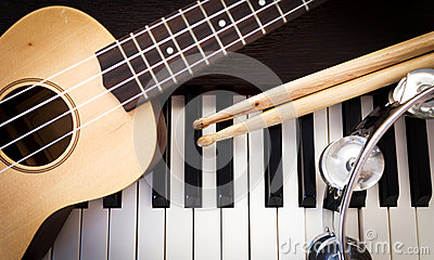Music instruments.