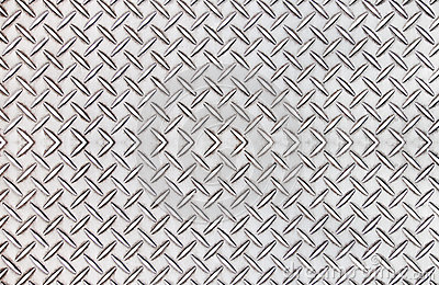 Old steel diamond plate pattern background texture.