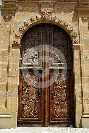 Ornate church door, Estepona.