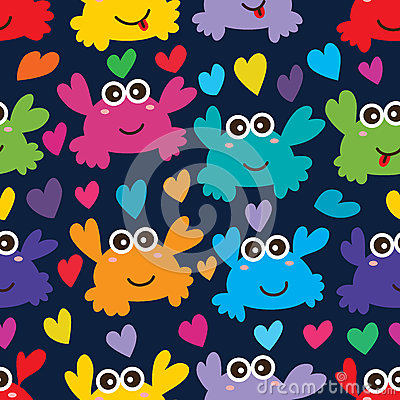 Crab love seamless pattern