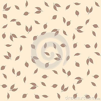 Delicate autumn vintage style background. Creative vector seamless pattern with leaves