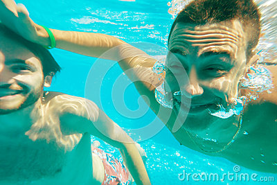 Underwater guys male fun
