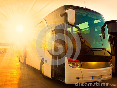 stock image of transport bus