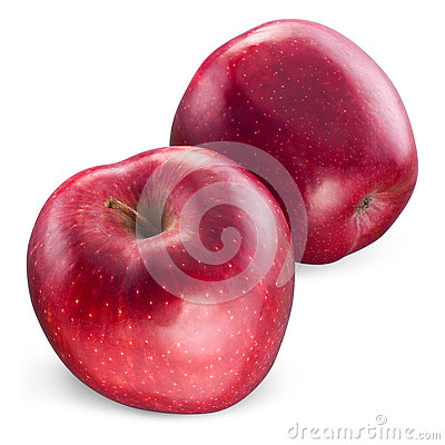 Red apple Isolated on white. With clipping path