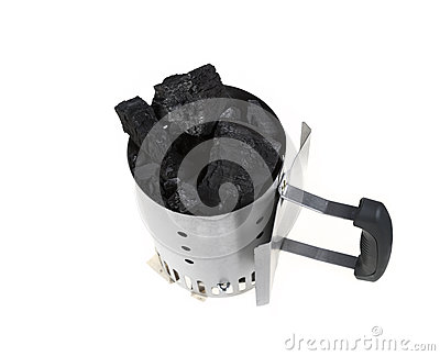 Charcoal Chimney Starter with Charcoal