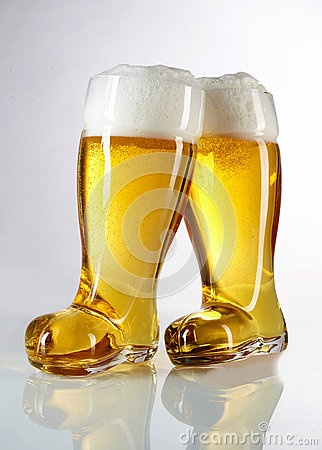 Novelty boot shaped beer glasses