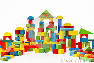 Toy Blocks City, Baby House Building Bricks, Kids Wooden Cubic