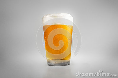 Perfect glass of cold beer with collar