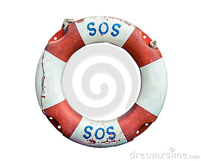 Lifebuoy With SOS Text