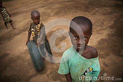 Africa, Sierra leone, the small village of Mabendo