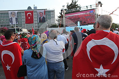 Anti-coup protest in Turkey