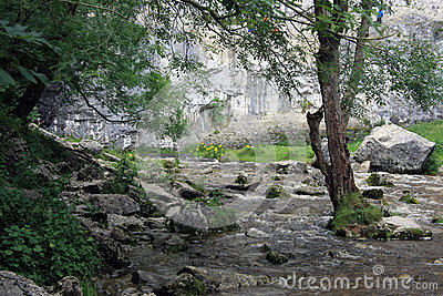 Malham Cove landscape in Yorkshire Dales