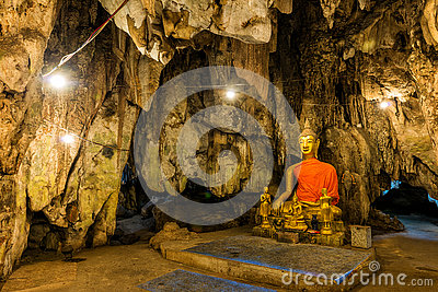 Buddha images in cave