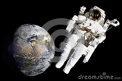 Astronaut on spacewalk mission