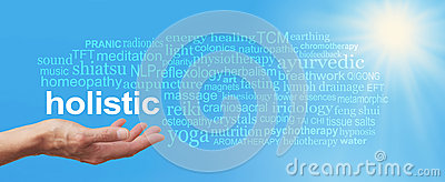 Holistic Therapy Blue Sky Word Cloud